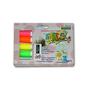 패브릭 염색마카 형광 6색세트(직물전용)