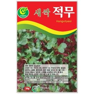 새싹적무 20g 새싹씨앗