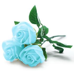 비누 장미꽃(하늘)+꽃대/50개입