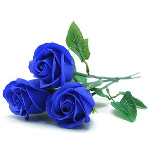 비누 장미꽃(파랑)+꽃대/50개입