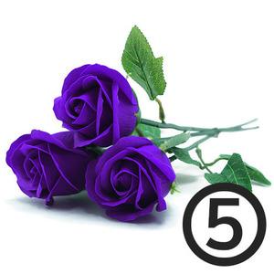 디퓨저용 비누장미꽃(보라)+꽃대/5개입