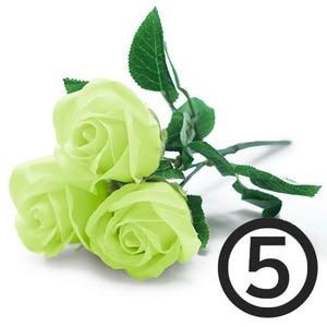 디퓨저용 비누장미꽃(연두)+꽃대/5개입