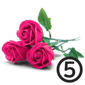 디퓨저용 비누장미꽃(진분홍)+꽃대/5개입