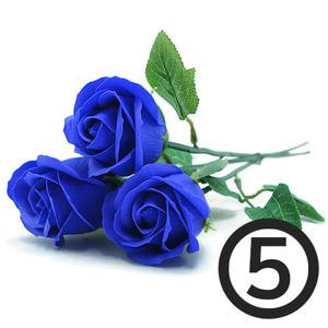 디퓨저용 비누장미꽃(파랑)+꽃대/5개입