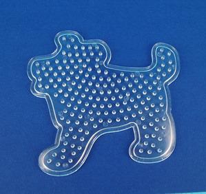 컬러비즈모양판(5mm)-강아지 약10.5*10cm