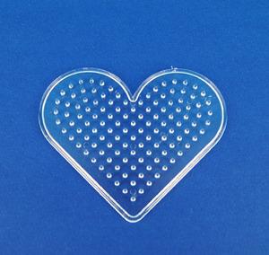 컬러비즈모양판(5mm)-하트 약9*7.5cm