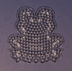 컬러비즈모양판(5mm)용-개구리 약10cm